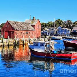 Rockport Reds - Rockport Harbor, Massachusetts by Dave Pellegrini