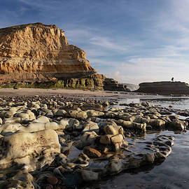 Rocks Along Torrey Pines State Beach by William Dunigan