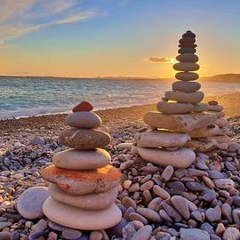 Rocks at Sunset by Andrea Whitaker