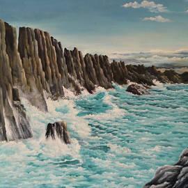 Rocks in the sea by Biljana Reynolds