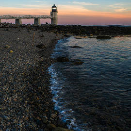 Rocky Beach at Marshall Point Lighthouse by Diane Diederich