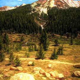 Rocky Mountain High Painting by Judy Vincent