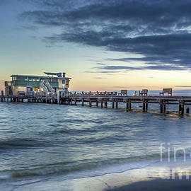 Rod and Reel Pier, Anna Maria Island, Florida at Blue Hour by Liesl Walsh