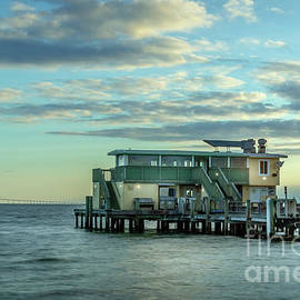Rod and Reel Pier, Anna Maria Island, Florida at Sunrise by Liesl Walsh