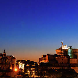 Roman Forum at Dusk by Andrew Cottrill