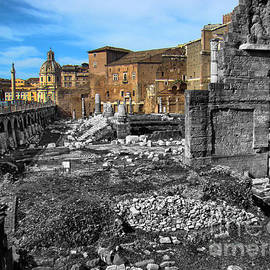 Roman Ruins Inside The City Of Rome by Al Bourassa