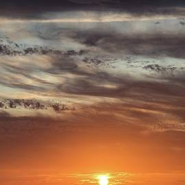 Romantic sunset at the Canary Islands by Anita Gendt van