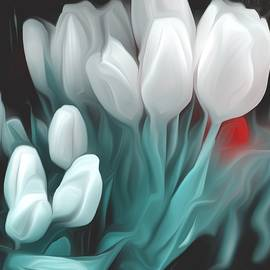 Romantic White Tulips by Christina Ford