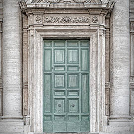 Rome Chiesa dei Santi Luca e Martina Main Door by Antony McAulay
