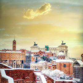 Rome Under Snow  by Stefano Senise