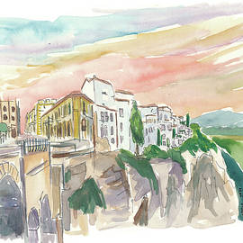 Ronda Cityview With Tajo Canyon Andalusia Spain by M Bleichner