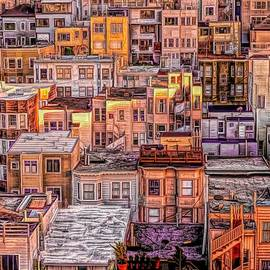 Rooftops in North Beach - San Francisco by Susan Hope Finley