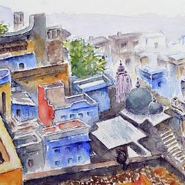 Rooftops of Bundi - Bundi series 14 by Uma Krishnamoorthy