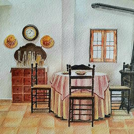 Room with a clock