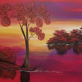 Rosa Landscape  by Yanixia Laguna