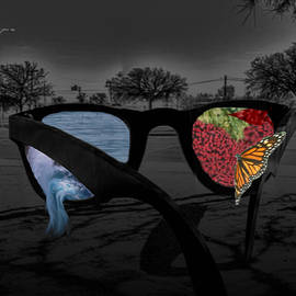 Rose colored glasses  by Marcia Kaye Rogers