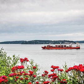 Rose Garden and Cargo Ship by Spencer McDonald