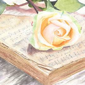 Rose on a Vintage Hymn Book  by Taphath Foose