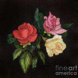 Rose Pastel Painting by Lesley Evered
