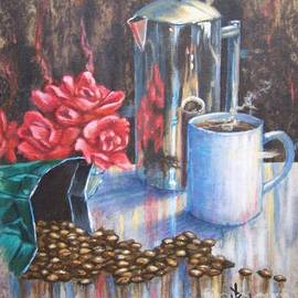 Roses and Coffee II by Paul Henderson