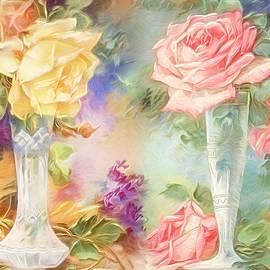 Roses in Crystal Vases by Susan Hope Finley