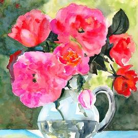 Roses in Glass Bowl #2 by Hiroko Stumpf