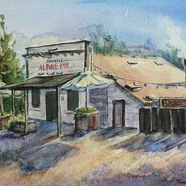 Rossotti Alpine Inn Beer Garden Portola Valley California by Xueling Zou