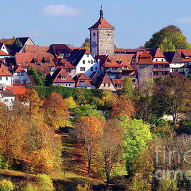 Rothenburg Ob Der Tauber, Autumn by Douglas Taylor