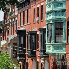 Row of Boston Apartment Bay Windows by Bob Phillips