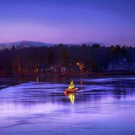 Rowboat Christmas Tree - Kennebunkport, Maine by Joann Vitali