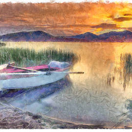 Rowboat on Lakeshore - DWP1446978 by Dean Wittle