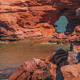 Rugged Rocky Shore of Prince Edward Island by Marcy Wielfaert