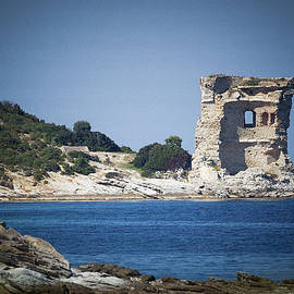 Ruin of a Genoese tower in Corsica