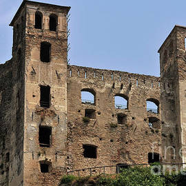 Ruined Doria Castle at Dolceacqua, Liguria, Italy, still bears 1744 Franco-Spanish artillery scars by Terence Kerr