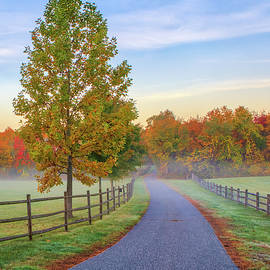 Rural New England Country Road by Juergen Roth