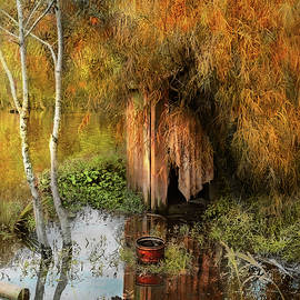 Rural - Outhouse - Water hazard 1938 by Mike Savad