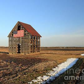 Rural Corn Crib Indiana by Steve Gass