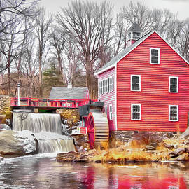 Russell Mill in Winter by Betty Denise