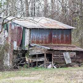Old Rusted Decaying Metal Barn in Onslow County North Carolina by Bob Decker