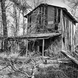 Rustic Old Tobacco Barn Along a Jones County North Carolina Back by Bob Decker