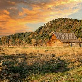 Rustic Sunset, TA Moulton Barn by Marcy Wielfaert