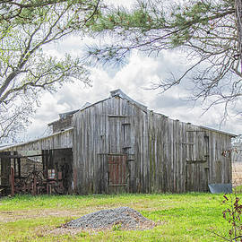 Rustic Wooden Barn Posted No Trespassing - Craven County North C by Bob Decker