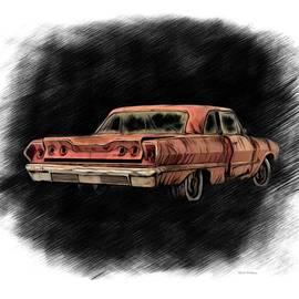 Rusty 1963 Chevrolet Impala SS  by Scott Wallace Digital Designs