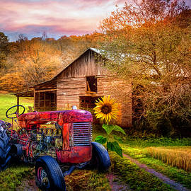 Rusty Red on the Farm by Debra and Dave Vanderlaan