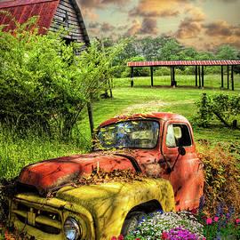 Rusty Truck in the Garden by Debra and Dave Vanderlaan