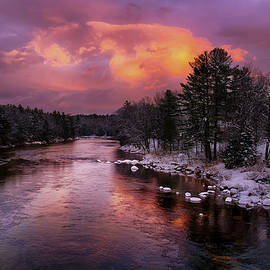 Saco River at Sunset - NH by Betty Denise