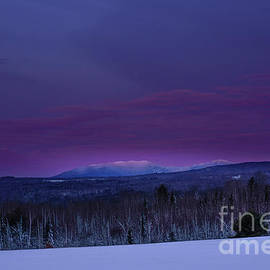 Saddleback Mt and a Pink Sunrise by Alana Ranney