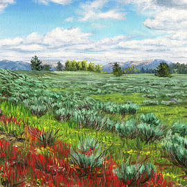 Sagebrush Plains by Steph Moraca