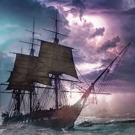 Sail under Velvet Thunder by Hatim Elhag