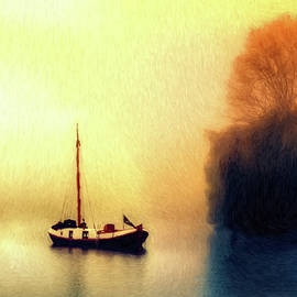 Sailboat on Lake - DWP1992137 by Dean Wittle